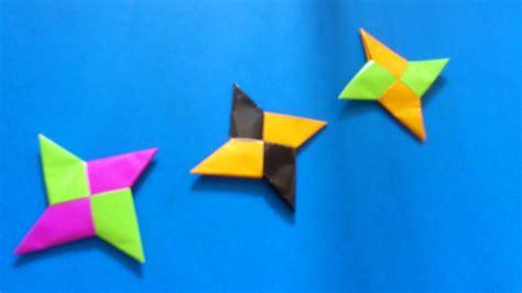 membuat origami shuriken ninja  bintang origami shuriken ninja youtube