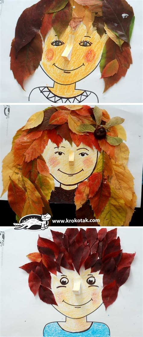 autumn hairstyles nature crafts crafts fall crafts