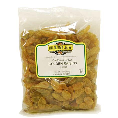 Golden Raisins Jumbo 250g california grown jumbo golden raisins hadley fruit orchards