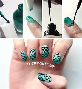 Amazing Nail Art Designs 30 Classic Mermaid Nails Art Design