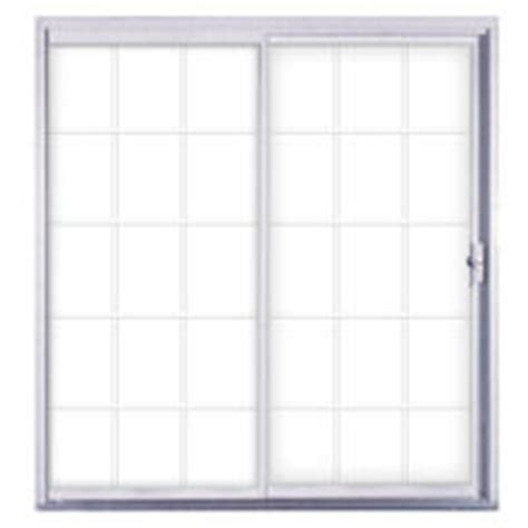 kinro 72 quot x 76 quot white aluminum sliding patio door with
