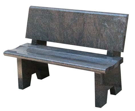 all polished granite memorial bench
