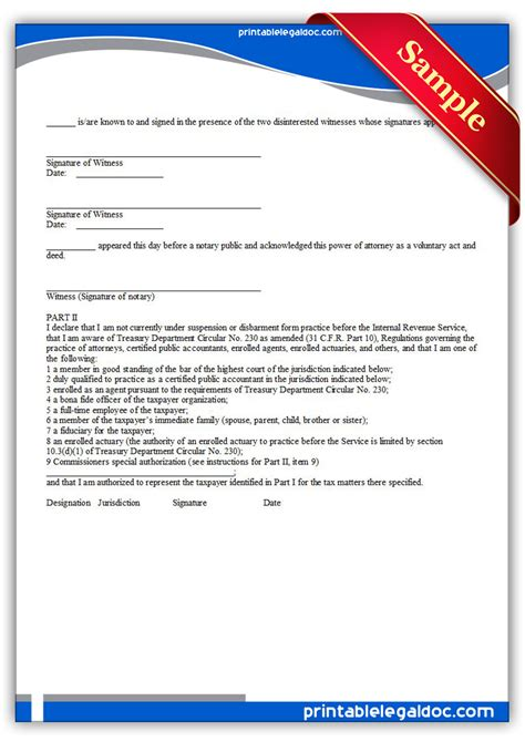 printable power of attorney forms free printable power of attorney and declaration of