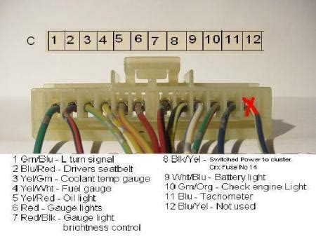 crx community forum view topic gauge cluster wiring