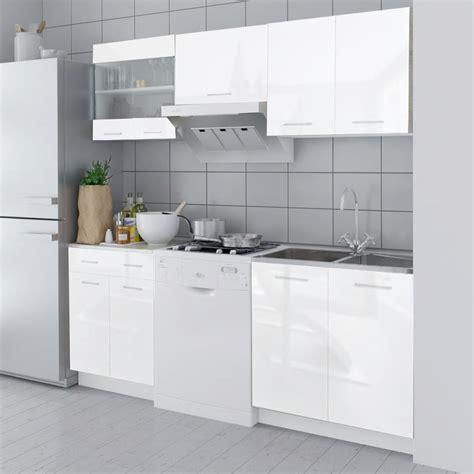set de cuisine à vendre set de meubles de cuisine blanc brillant ensemble de