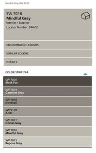 Sherwin-Williams Mindful Gray Color