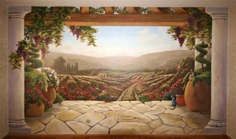 tuscan wall murals     room view window