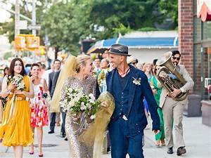 Piper Perabo Wears a Most Unique Gown in Vibrant Wedding Photo - Couples, Marriage, Wedding ...