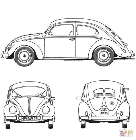 Fiat Panda Kleurplaat by Volkswagen Kever 1952 Kleurplaat Gratis Kleurplaten Printen