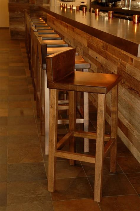 hand  alder bar stool  woodvisions