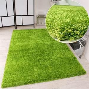 Hochflor Teppich Grün : shaggy teppich hochflor langflor leicht meliert qualitativ u preiswert uni gruen wohn und ~ Markanthonyermac.com Haus und Dekorationen