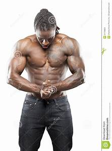 Black Fitness Model In Jeans Stock Images - Image: 31716824