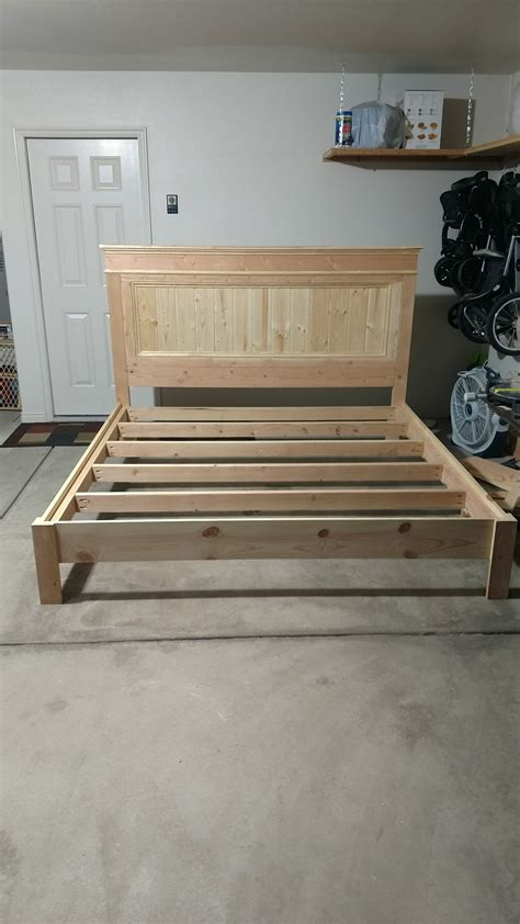 ana white king bed frame diy projects pallet diy