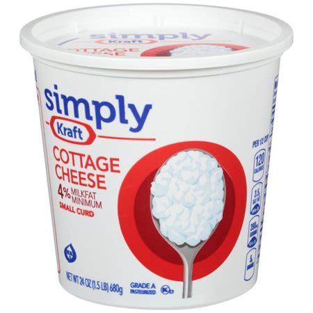kraft cottage cheese simply kraft small curd cottage cheese 24 oz walmart