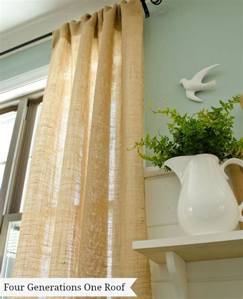 how to make drapery 10 creative projects with burlap decorating your small space