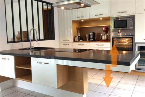 hauteur d un ilot de cuisine awesome cuisine lot hauteur variable with hauteur d un ilot de cuisine