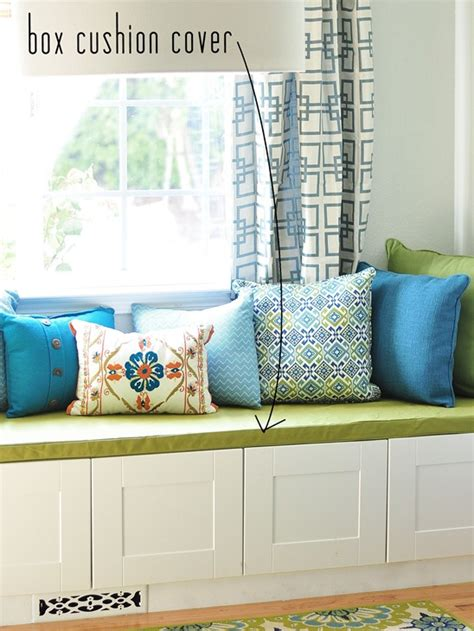window bench cushions simple sew box cushion cover centsational