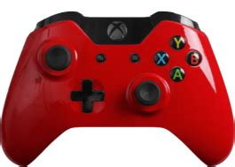 glossy red modded xbox  controller