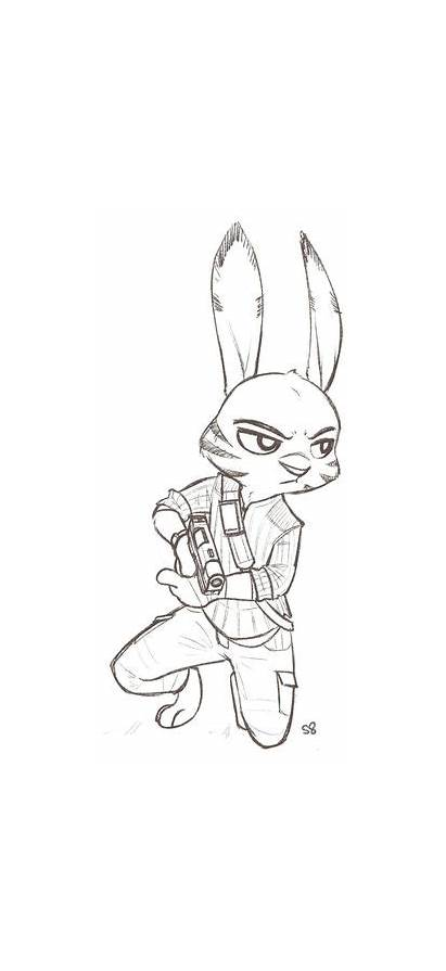 Zootopia Savage Jack Coloring Judy Pages Fanart