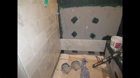 marble carrara tile bathroom part  installing  carrera