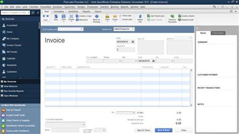 quickbooks invoice how to prepare an invoice in quickbooks 2016 dummies