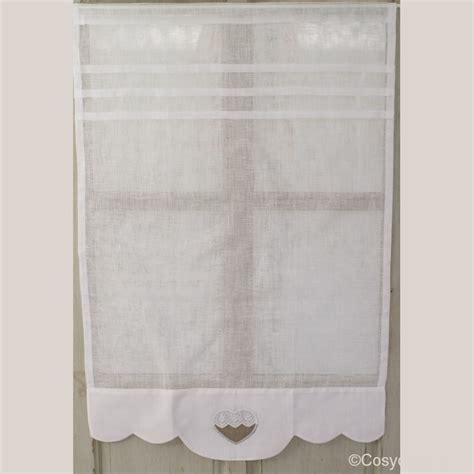 rideaux cuisine brise bise rideau brise bise coeur en broderie anglaise largeur 45 cm