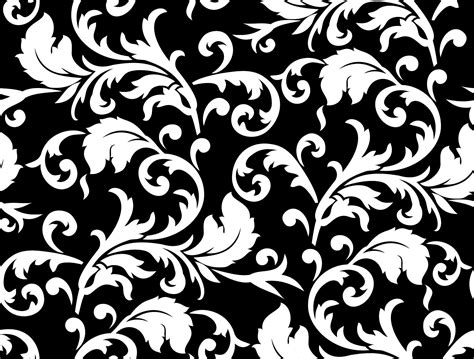 black  white floral patterns  psd vector eps