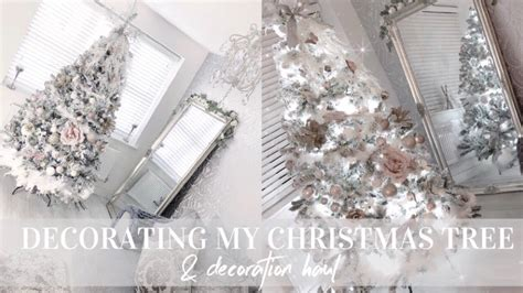 feathery blush pink rose gold christmas tree decorate