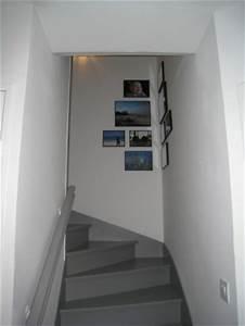 Escalier bois blanc et gris meilleures images d for Peindre un escalier en gris 2 escalier deco peint en blanc marches et rambarde en bois