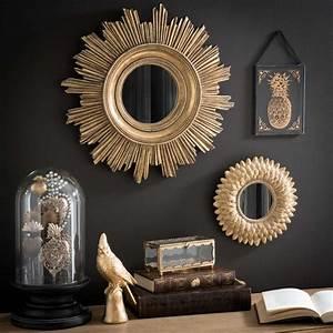 Miroir Doré Rond : miroir rond dor h 22 cm montauk maisons du monde ~ Teatrodelosmanantiales.com Idées de Décoration