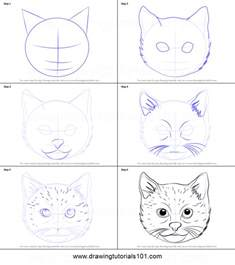 how to draw a cat step by step how to draw a cat printable step by step drawing
