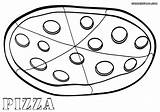 Pizza Coloring Pages Results sketch template