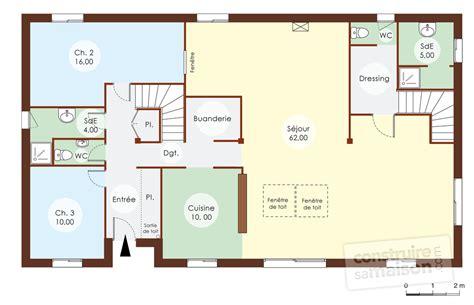plan de maison avec cuisine ouverte cuisine ouverte sur sejour 5 maison bois 1