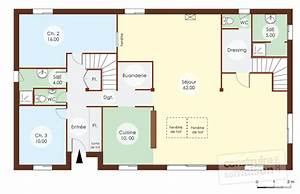 maison bois 1 detail du plan de maison bois 1 faire With faire un plan de maison 2 une maison en ossature bois detail du plan de une maison