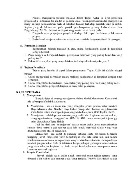 Contoh Batasan Masalah Pada Jurnal - Contoh Paket