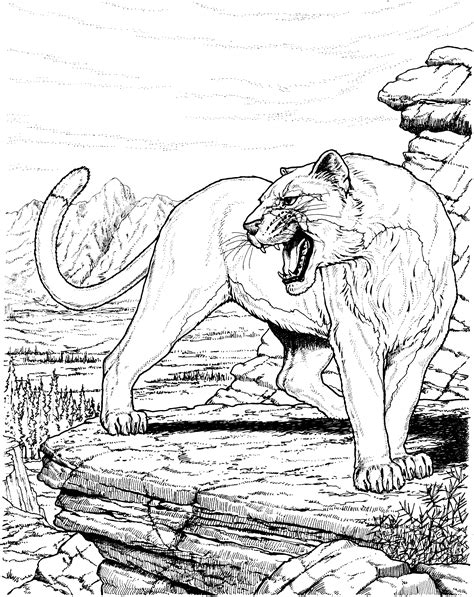 panther coloring pages