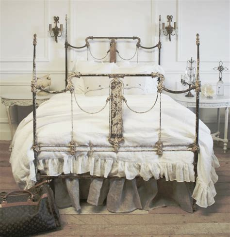 shabby chic metal bed must have shabby chic item the wrought bed inspiration ideas brabbu design forces