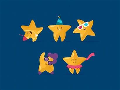 Stars Dribbble Star Illustration Animated Flat Inspiration