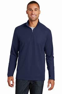 Port Authority® Pinpoint Mesh 1/2-Zip Easy Care Polos