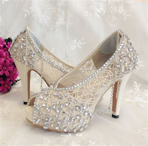 Shoe  Ivory Shoes Lace Bridal Shoes #2260781 Weddbook