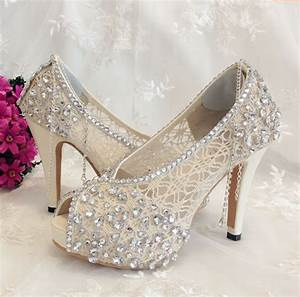 shoe ivory shoes lace bridal shoes 2260781 weddbook With wedding shoes for lace dress
