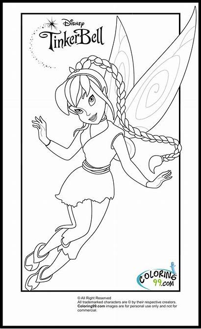 Tinkerbell Coloring Pages Friends Fawn Disney Fairy