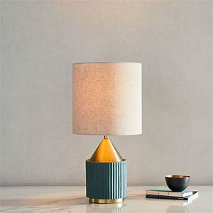 Modern, Fluted, Table, Lamp