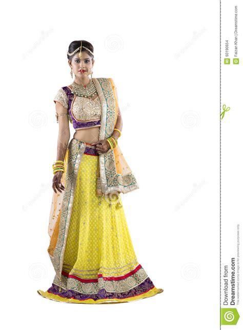 beautiful indian rajasthani bride  isolated background