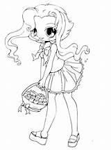 Coloring Pages Chibi sketch template
