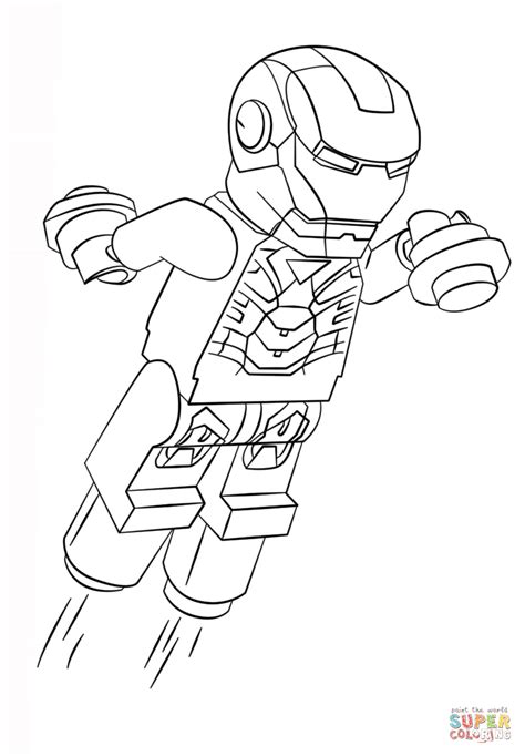 lego iron man coloring page  printable coloring pages
