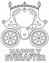 Coloring Wedding Pages Happily Everafter sketch template