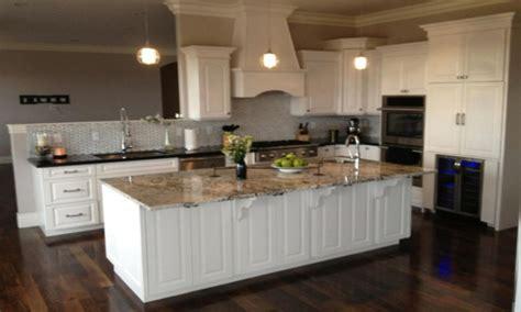 dark kitchen cabinets  white cabinets  black appliances  white cabinets  granite