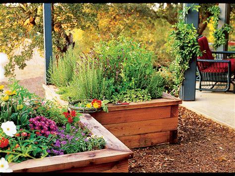 Raisedbox Herb Garden  Sunset Magazine