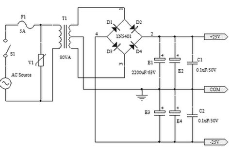 25v capacitor bank for ocl lifier circuit diagram